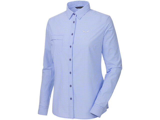 Salewa Puez Mini Check Dry L/S Shirt Women M mini check vista b